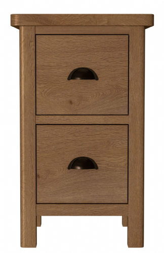 Richmond Rustic Oak Small Bedside Cabinet